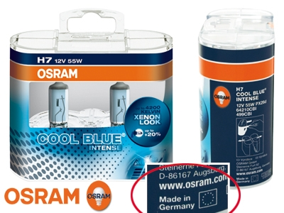 osram cool blue intense h7 xenon polttimo xenon look. Black Bedroom Furniture Sets. Home Design Ideas